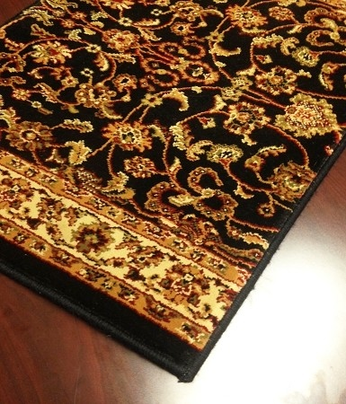 World WO01 Black Traditional Carpet Stair Runner