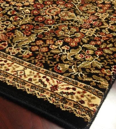 World Wo04 Black Traditional Carpet Stair Runner