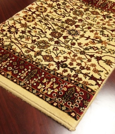 World WO09 Ivory Traditional Carpet Stair Runner