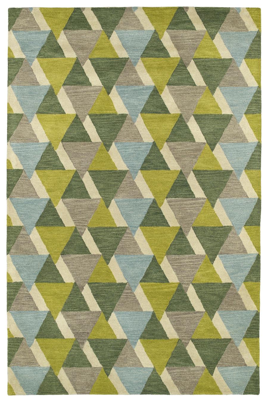 Kaleen Rosaic ROA03-96 Lime Green Rug