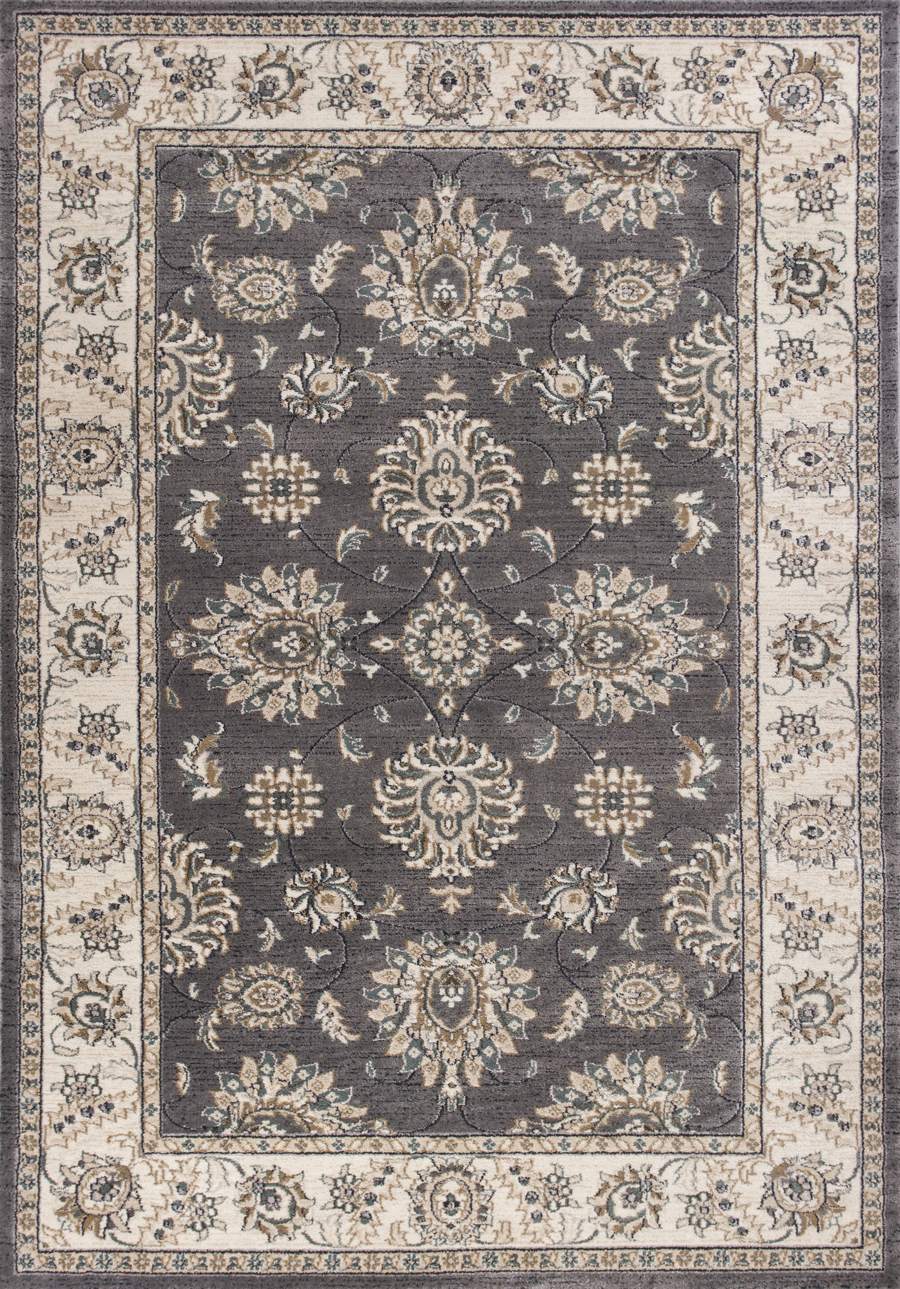 Kas Avalon 5608 Grey Ivory Kashan Area Rug