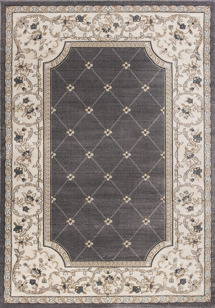 Kas Avalon 5615 Grey Ivory Courtyard Area Rug
