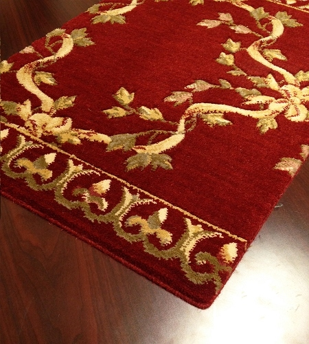 Barcelona BR01 Burgundy European Carpet Stair Runner