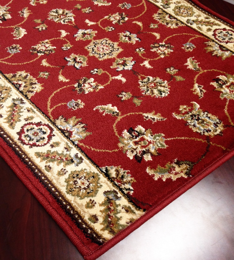 Caspian 8265rd kazmir red carpet hallway and stair runner for Runners carpets and rugs
