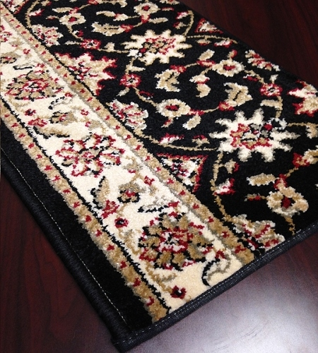 Como 1592 Black Carpet Stair Runner