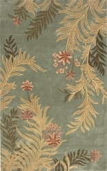Harmony Palm Frond HA-03 Sage Rug by Momeni