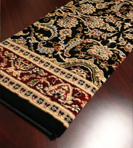 Manhattan MN01 Black Carpet Stair Runner