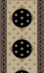 Brilliance BRI-08 Black Carpet Stair Runner