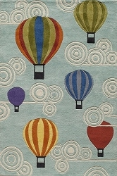 Lil Mo Whimsy LMJ-20 Hot Air Balloons Multi Rug by Momeni