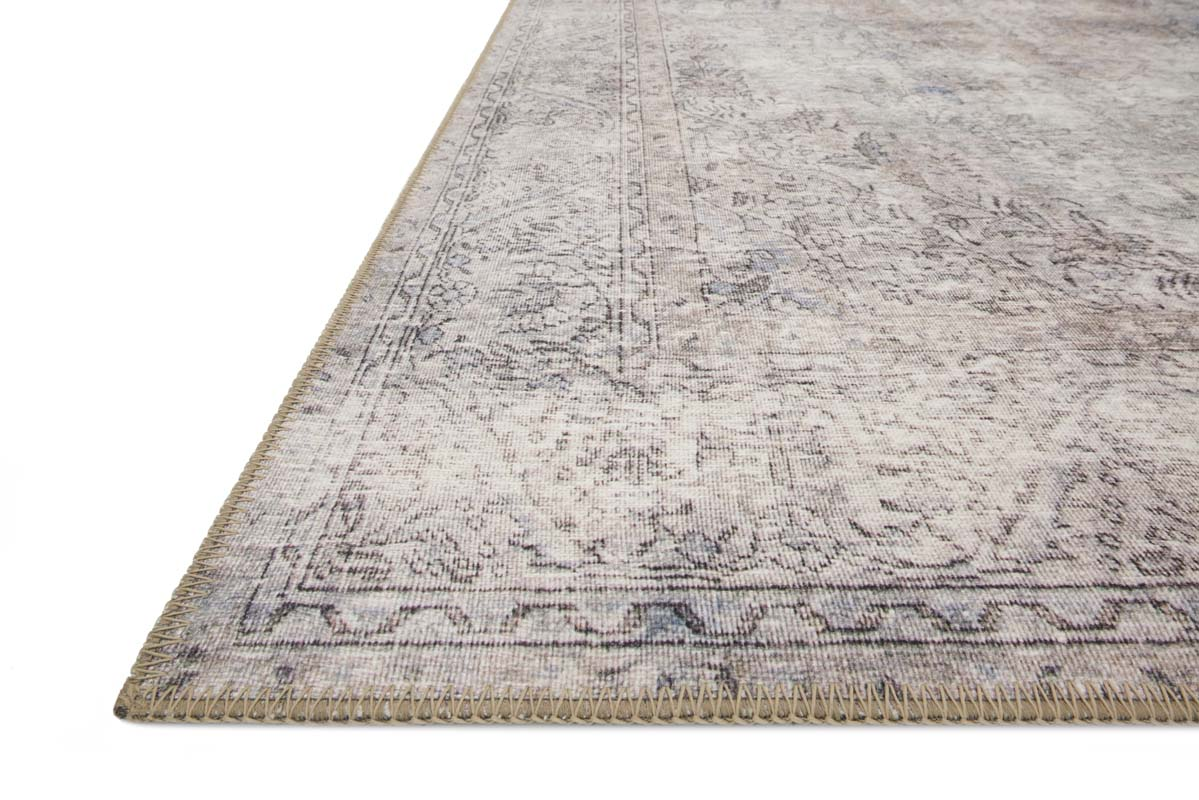 Loloi Silver Gray Rug Loren Collection Printed Floor Rug