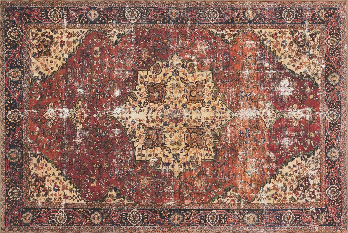 Loloi Loren Lq 07 Red Navy Rug