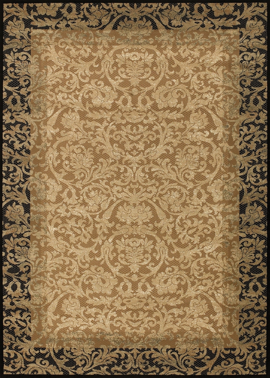 Fontana Gold/Black 1284/4898 Everest Rug by Couristan