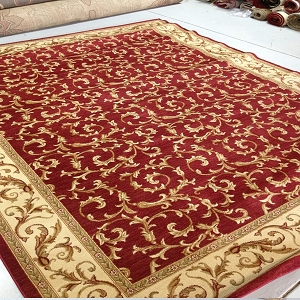 Payless Rugs Clearance Belvedere Scroll Red Area Rug - 7 ft 10 in x 9 ft 10 in