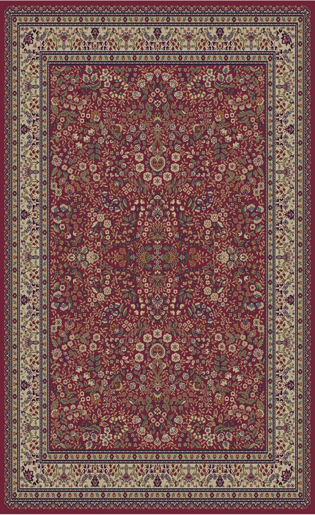 concord jewel 4110 sarouk red area rug