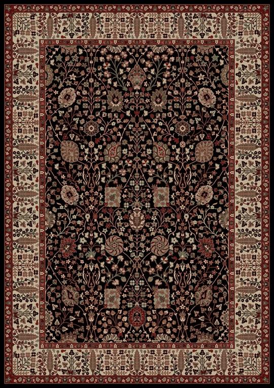Concord Persian Classics 2053 Vase Black Area Rug