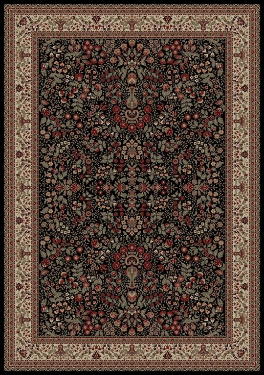 Concord Persian Classics 2093 Sarouk Black Area Rug