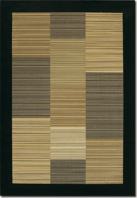 Hamptons Multi Stripe/Black 0766/0601 Everest Rug by Couristan