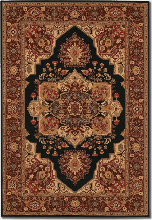 Antique Sarouk Black 2829/5123 Everest Rug by Couristan