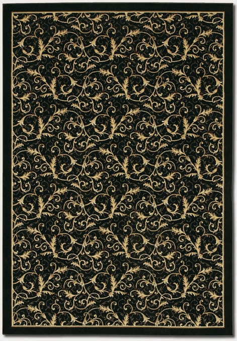 Royal Scroll Ebony 2863/6214 Everest Rug by Couristan