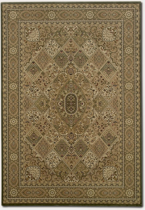 Kerman Panel New Khaki 3794/5947 Everest Rug by Couristan