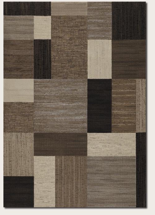 Geometric Brown Multi 6303/4343 Everest Rug by Couristan