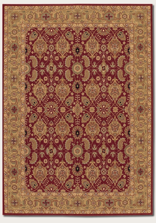 All Over Vase Persian Red 8132/2608 Royal Kashimar Rug by Couristan