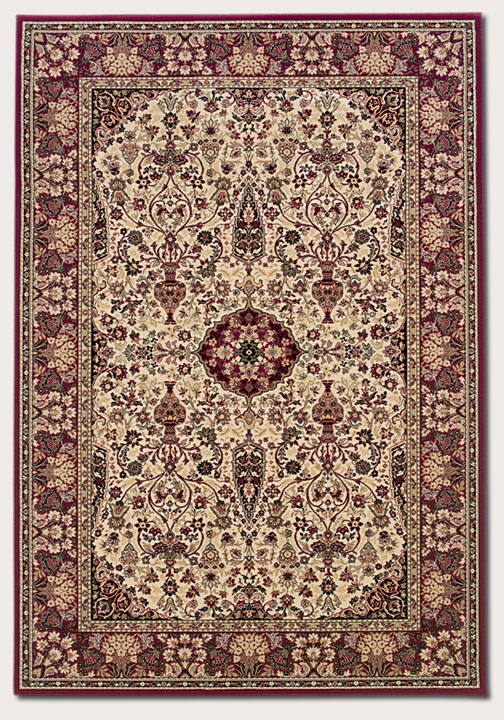 Ardebil Ivory/Red 3760/6004 Everest Rug by Couristan