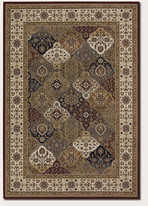 Mosaic Panel Crimson Multi 6380/5987 Everest Rug by Couristan