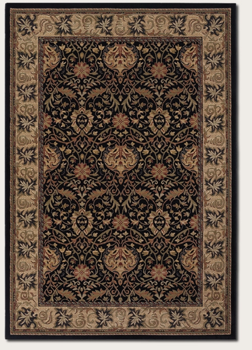 Herati Palm Midnight 6384/3363 Everest Rug by Couristan