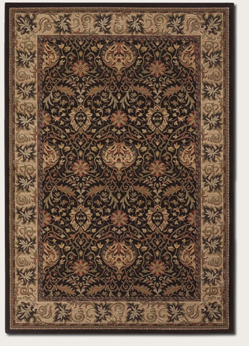 Herati Palm Chocolate 6384/3767 Everest Rug by Couristan