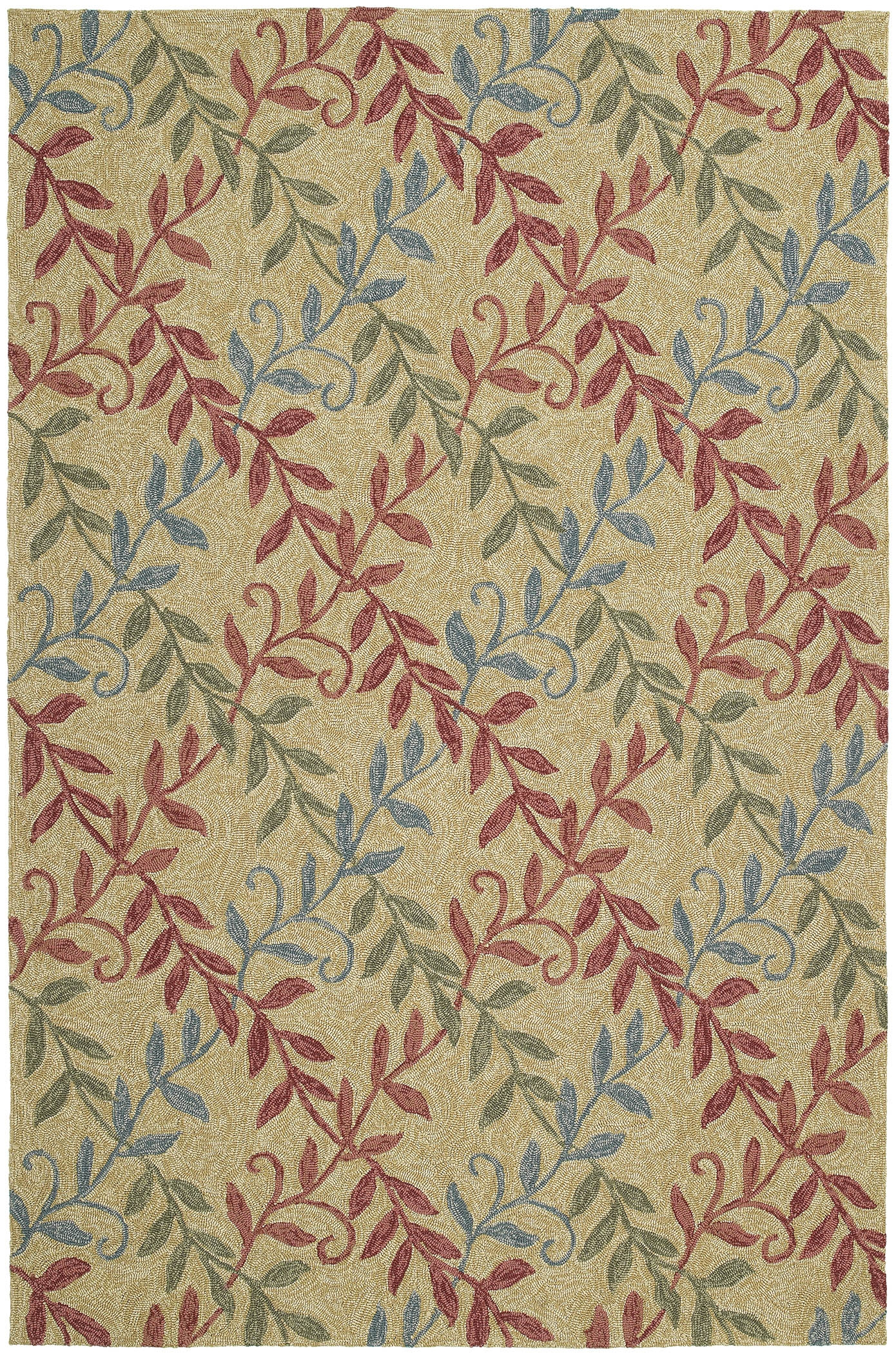 Home & Porch Factors Walk 2023 07 Butterscotch Outdoor Rug by Kaleen