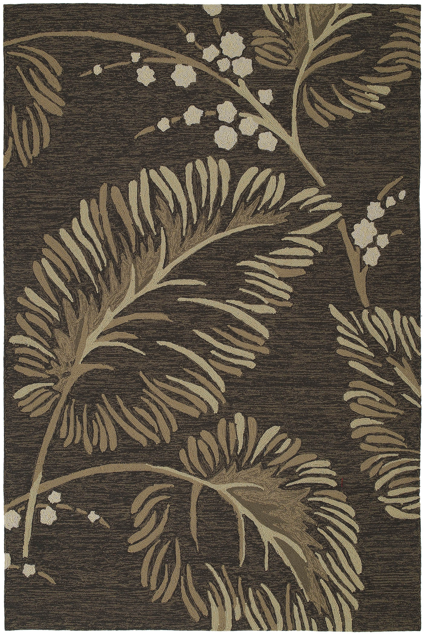 Home & Porch Palmyra 2025 40 Chocolate Outdoor Rug by Kaleen