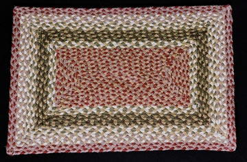 Rectangle Braided RC-24 Olive/Burgundy/Gray 100% Jute Earth Rugs