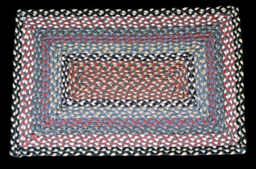 Rectangle Braided RC-43 Burgundy/Blue Gray 100% Jute Earth Rugs