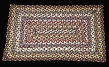 Rectangle Braided RC-51 Fir/Ivory 100% Jute Earth Rugs