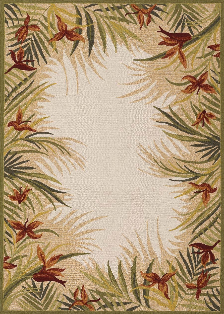 couristan covington tropic gardens sandmulti rug - Couristan Rugs
