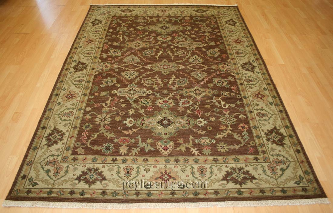 Hacienda HAC-18 Mocha Ivory Flat Weave Hand Knotted 100% Wool Rugs On Sale
