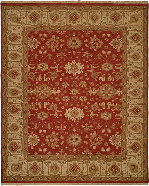 Hacienda HAC-44 Rust Ivory Flat Weave Hand Knotted 100% Wool Rugs On Sale