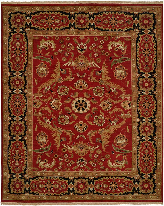 Hacienda HAC-47 Red Black Flat Weave Hand Knotted 100% Wool Rugs On Sale