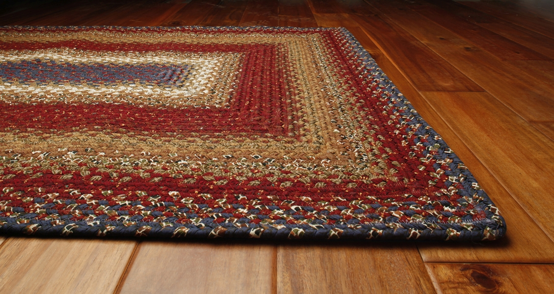 Log Cabin Step Cotton Rug by Homespice