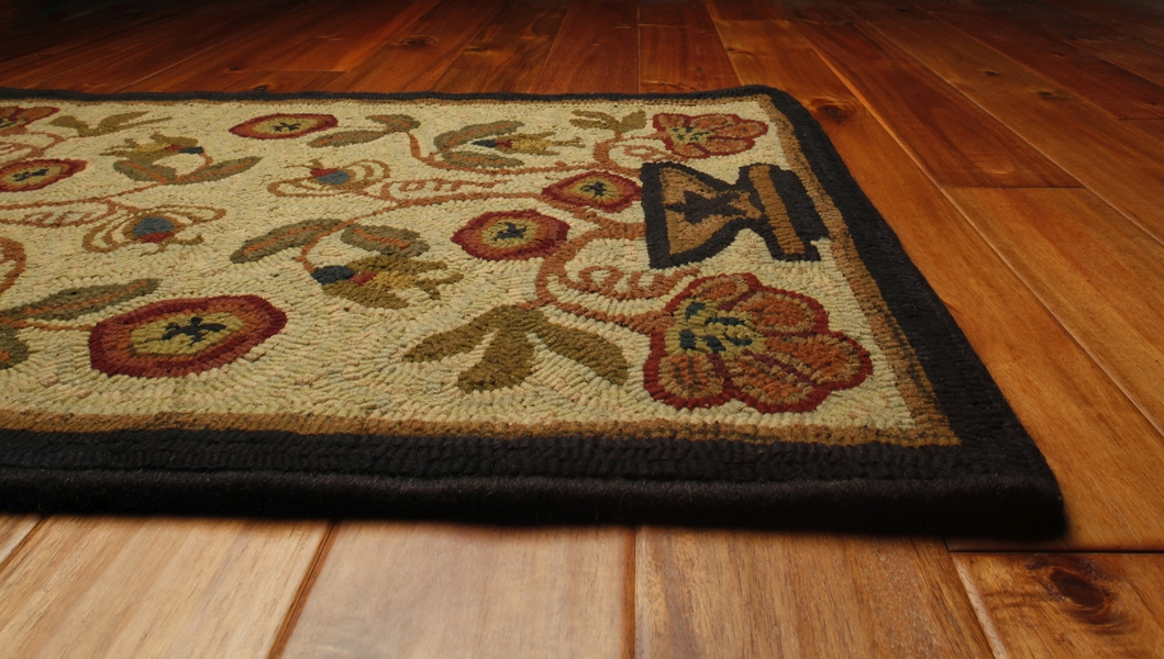 Potted Flower 2 ft x 3 ft Hand Hooked Rug by Homespice