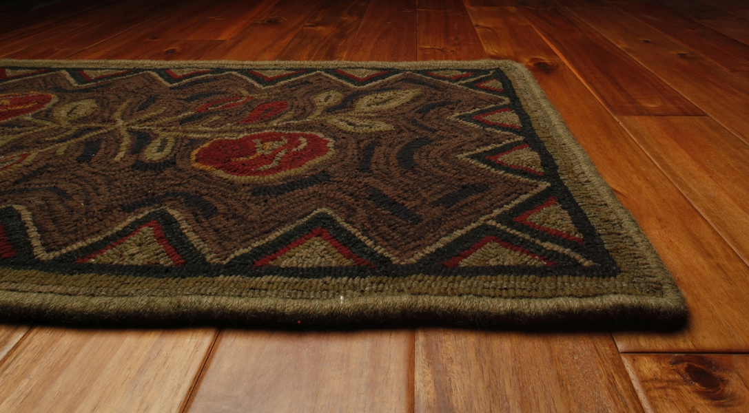 Wild Rose 22 in x 40 in Hand Hooked Rug by Homespice