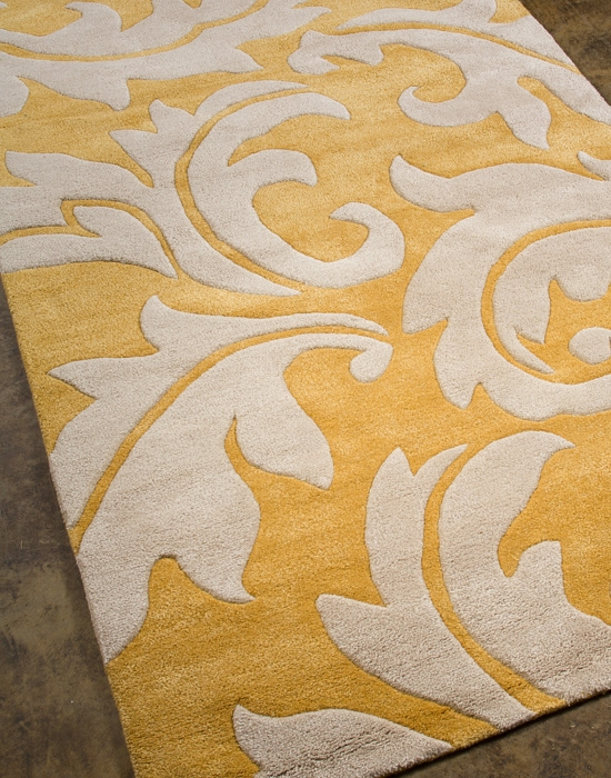 Blue Aloha BL-08 Golden Apricot/Antique White Rug by Jaipur