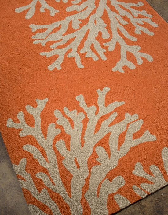 Grant Bough Out GD-01 Orange/Gray Outdoor Rug by Jaipur