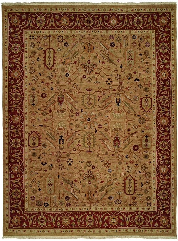 Soumak SU-143 Wheat Red Rug by Kalaty