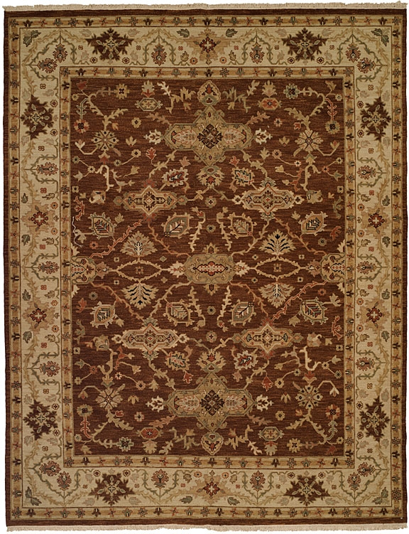 Soumak SU-148 Brown Ivory Rug by Kalaty