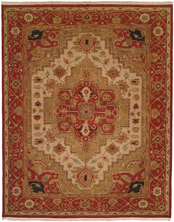 Soumak SU-189 Ivory Red Rug by Kalaty