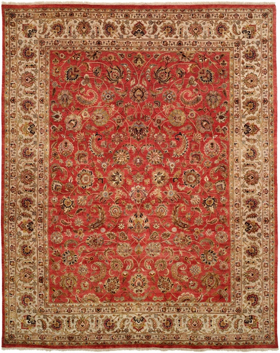 Tabernacle TK-480 Rust Ivory Rug by Kalaty