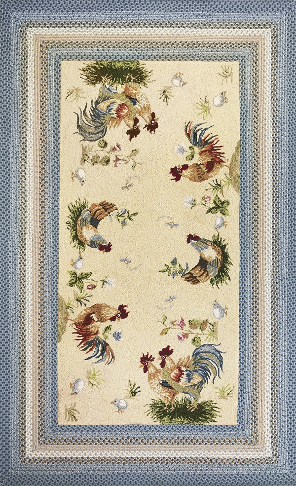 Fairfax 5508 Rooster Pen Outdoor Rug by Kas
