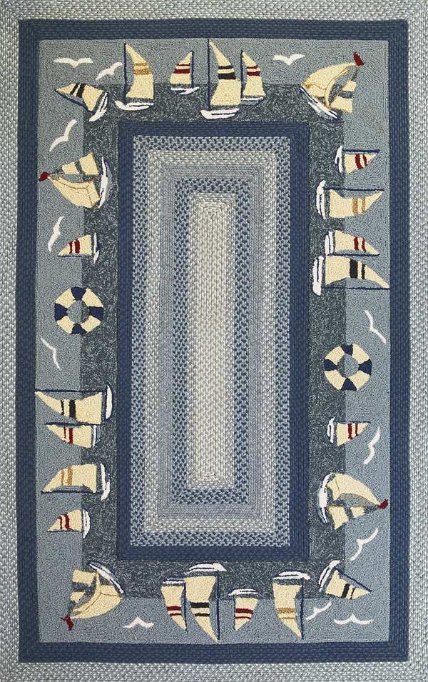 Fairfax 5510 Sailboats Outdoor Rug by Kas